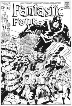 JACK KIRBY Fantastic Four 82 cover recreation by SKY-BOY.deviantart.com on @DeviantArt