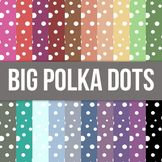 Big Polka Dots Digital Background Paper - Commercial Use Allowed