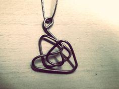 Iron Wire Necklace - Collana fil di ferro - Handmade DIY