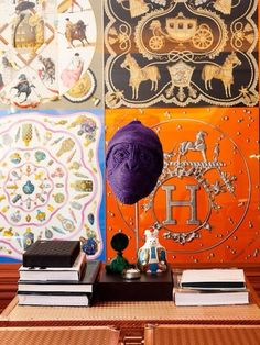 9260c2cedd4 The home of Japanese interior designer Yasumichi Morita as captured by The  Selby. These are Hermes scarves  entire wall is shown in accompanying photo.