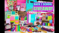 BIGGEST BACK TO SCHOOL GIVEAWAY EVER! #2 - SCHOOL SUPPLIES, MAKEUP AND MORE!!!! OPEN INTERNATIONALLY https://www.youtube.com/watch?v=Vi7LGZGUx3Y