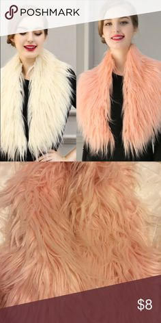 Pink faux fur wrap collar Used but in good condition Accessories