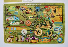 Vintage illustrated map of San Diego Zoo