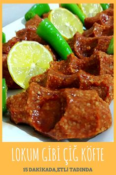Raw Meatballs like Turkish Delight with Meat in 15 Minutes – Yummy Recipes - Fleisch Yummy Recipes, Meat Recipes, Yummy Food, Grilling Recipes, Turkish Delight, Bulgur Salad, Albondigas, Turkish Recipes, Iftar