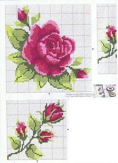 Схемы для вышивки: розы