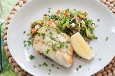 Seared Hake with Warm Lentils & Brussels Sprouts | Blue Apron recipe