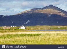 Hecla from the Loch Skiport road South Uist Stock Photo