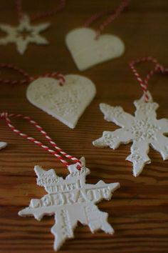 Air drying clay Christmas decorations LR