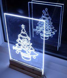 Cómo hacer un árbol de borde muestra de la luz de Navidad dirigido o la ...