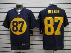 Green Bay Packers #87 Jordy Nelson dark blue Nike NFL elite Jersey