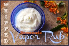 DIY Whipped Vapor Rub For Chest Congestion