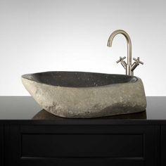 Leonie Black River Stone Vessel Sink