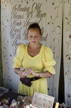 Hämeen keskiaikamarkkinat - Häme Medieval Faire 2012, Myyjä - Vendor, © Heikki Haavisto Medieval, Ruffle Blouse, Shoulder, Tops, Women, Fashion, Moda, Fashion Styles, Mid Century