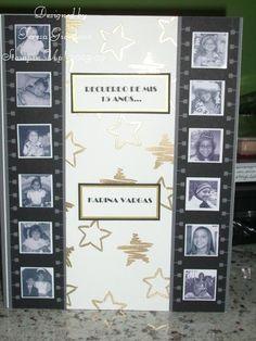 Libro de firmas para Quinceañeras con tema de pelicula de Hollywood