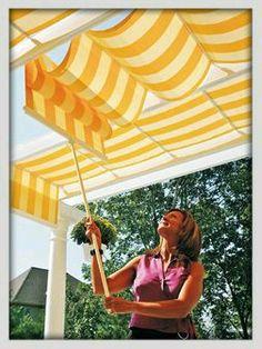 Pergola With Retractable Canopy Toile Pergola, Outdoor Pergola, Pergola Kits, Canopy Outdoor, Cheap Pergola, Shade Canopy, Canopy Tent, Canopy Lights, Canopies