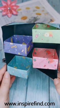 Diy Discover Tips for paper jewelry storage box! Cool Paper Crafts, Paper Flowers Craft, Paper Crafts Origami, Origami Art, Scrapbook Paper Crafts, Fun Crafts, Flower Paper, Diy Crafts Hacks, Diy Crafts For Gifts