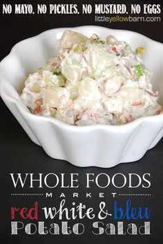 For those of you who despise the traditional potato salad, you must try this recipe for potato salad. Made with bleu cheese. I actually don't like potato salad or bleu cheese, but this recipe is so delicious, I didn't hesitate to reaching for a second serving.