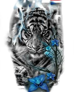 Animals tattoo design