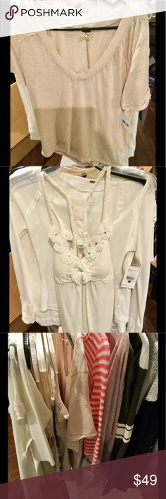 Free People tops NWT Free people brand-new just pointed out to me we have sizes different colors of this ass about availability and price Free People Tops Tees - Short Sleeve