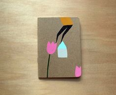 hand painted notebook by Mia Christopher