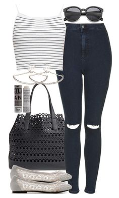 Untitled #544 by ofarenaissancewoman on Polyvore featuring polyvore fashion style Topshop Ollio 7 Chi Forever 21 Korres clothing