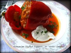 "Home Cooking In Montana: Romanian Stuffed peppers. or ""Ardei Umpluti"""