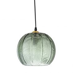 An unusual Danish design, this understated Green Glass Pendant Lamp by Bloomingville will illuminate any space in style. The textured Ceiling light would be a colourful addition to many modern homes, hotels, bars, cafes and other interiors. Glass Pendant Light, Ceiling Pendant, Glass Pendants, Green Pendant Light, Green Light Shades, Glass Pendant Shades, Glass Lamps, Pendant Lamps, Hanging Pendants