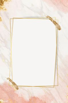 Shimmering golden frame design vector, 4k iphone and mobile phone wallpaper | premium image by rawpixel.com / marinemynt Pink Glitter Background, Flower Background Wallpaper, Flower Backgrounds, Rose Gold Wallpaper, Framed Wallpaper, Cadre Design, Fond Design, Instagram Frame Template, Photo Collage Template