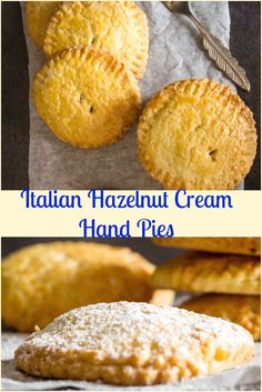 Italian Hazelnut Cream Hand Pies, a traditional Italian Pastry, stuffed with  Nutella, makes them a delicious Snack or Dessert. via @https://it.pinterest.com/Italianinkitchn/