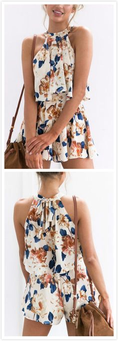 What makes this skirt co-ord set perfect for summer is its sexy style and its halter neck, sleeveless and floral print. Get that edgy look by pairing this piece with a pair of high heels.