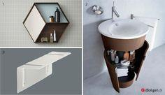Opbevaring på lille badeværelse