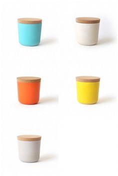Bamboe voorraadpot in 5 kleuren - Biobu Gusto | home | Babongo