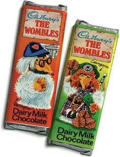 The Wombles~Dairy Milk Chocolate Old Sweets, Vintage Sweets, Retro Sweets, Vintage Candy, Retro Candy, 1970s Childhood, My Childhood Memories, Childhood Toys, Sweet Memories