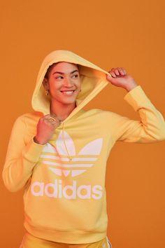 adidas Originals Adicolor Classic Trefoil Hoodie Sweatshirt | Urban Outfitters