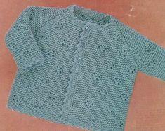 Baby Cardigan Knitting Pattern PDF Boys and Girls 18 19 and patterns Dog patterns Poncho patterns Toys Crochet Baby Sweater Pattern, Knitted Baby Cardigan, Toddler Sweater, Baby Girl Sweaters, Hand Knitted Sweaters, Knitting Patterns Boys, Vogue Knitting, Vintage Knitting, Etsy