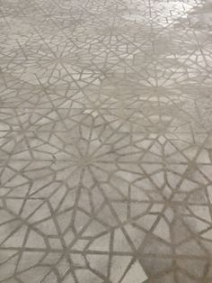 Concrete stenciled floor