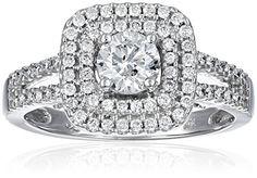 10k White Diamond 1.00cttw Ring, Size 7