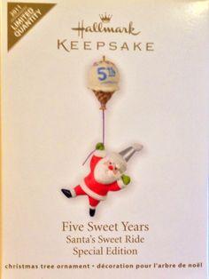 Five sweet years. Hallmark Christmas Ornaments, Christmas Presents, After Christmas, Decoration, Santa, Holiday Decor, Sweet, Collection, Christmas Trees