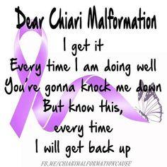 September is Arnold Chiari Malformation Awareness Month #ChiariAwareness