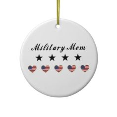 Military Mom Christmas Tree Ornaments by politicalgirl