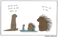 Liz Climo is an extraordinarily prolific artist – when not working to help animate 'The Simpsons' she's publishing her own cute animal comics on Tumblr.  The cute animals in her comics like to make dry and witty observations or comments about everyday social interactions., she says that she draws her inspiration more from her own daily social interactions and what she find to be funny in them - lizclimo.tumblr.com
