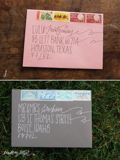 Lettering ideas for addressing envelopes