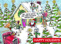 - Electric indeed! This amusing scene features Santa and thousands of christmas lights! A fun way to light up the season and extend holiday wishes to all!