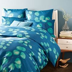 Midnight Blossom Duvet Cover + Shams #westelm  I think this is what I'm getting!