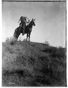 Native American - Apsoroke Chief on Horseback