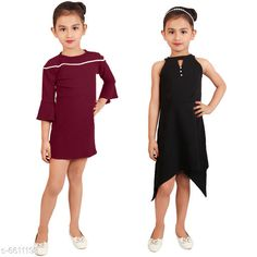 Frocks & Dresses Elegant Cotton Lycra Blend Kids Dresses Fabric: Cotton Blend Sleeve Length: Three-Quarter Sleeves Pattern: Solid Multipack: Pack Of 2 Sizes: 2-3 Years (Bust Size: 9.5 in Length Size: 21 in) Country of Origin: India Sizes Available: 2-3 Years, 3-4 Years, 4-5 Years, 5-6 Years, 6-7 Years, 7-8 Years   Catalog Rating: ★4.2 (518)  Catalog Name: Free Mask Agile Fancy Girls Frocks & Dresses CatalogID_1053415 C62-SC1141 Code: 836-6611193-6171
