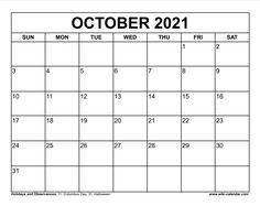 Wiki Calendar October 2021 October Calendar, 2021 Calendar, Printables, Print Templates