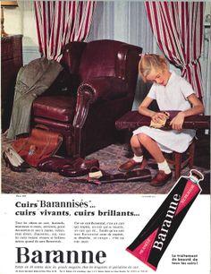 Cirage Baranne, cuirs vivants, cuirs brillants - Réalités, décembre 1962