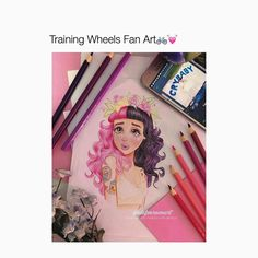 "3,740 Likes, 38 Comments - ♡CRYBABY♡ (@melsunicorns) on Instagram: ""Omg Fave lyric from training wheels! ""Love Everything you do"" Artist @alefvernonart ♡ ♡ ♡ ♡ ♡…"""