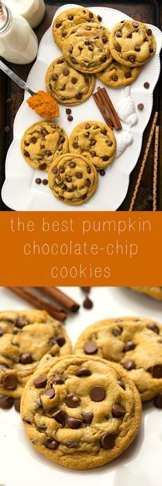 Non-Cakey Pumpkin Spice Cookies one bowl and no mixers required!
